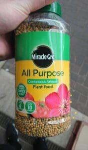 All purpose fertilizer for honeysuckle